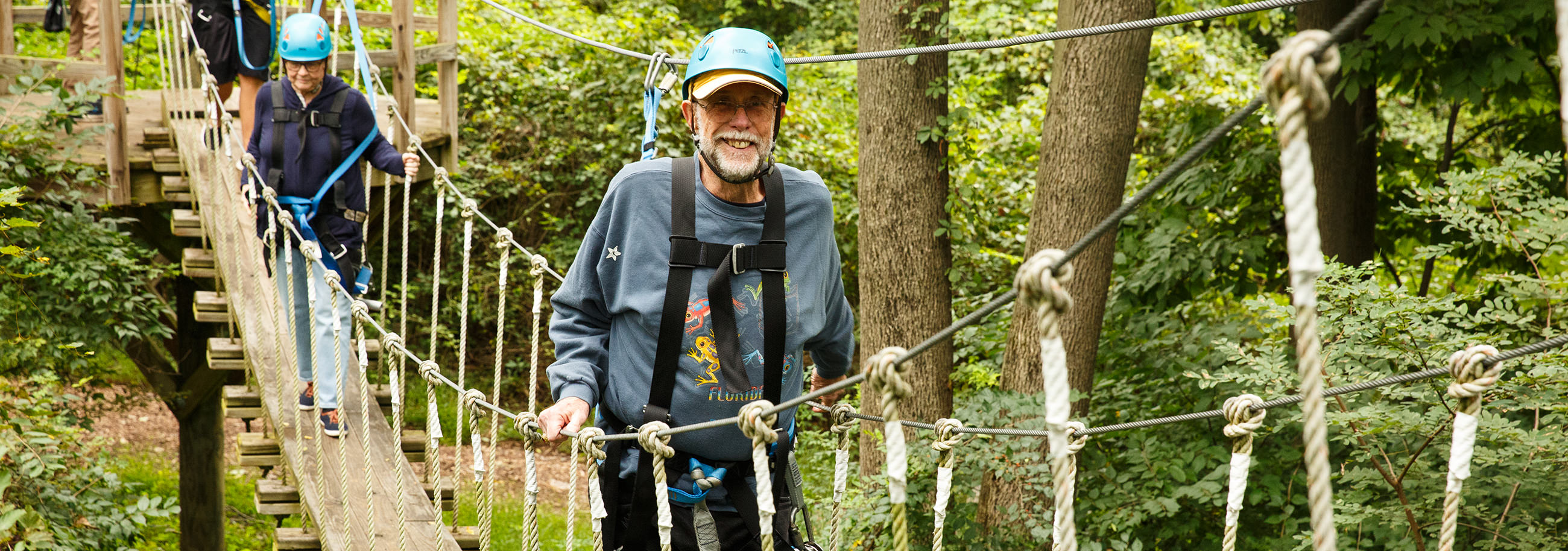 Live With Purpose Zip Lining with Garden Spot Village