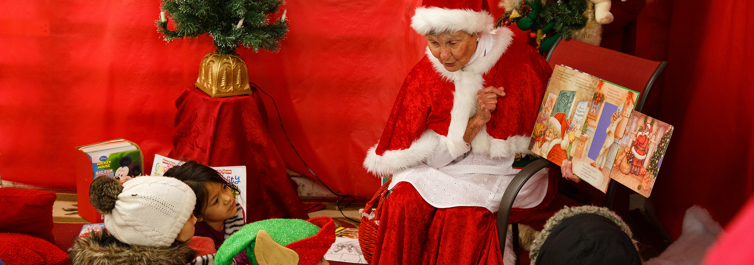 Barb Masho transforms into Mrs. Claus to bring the joy of the holiday to children in New Holland.