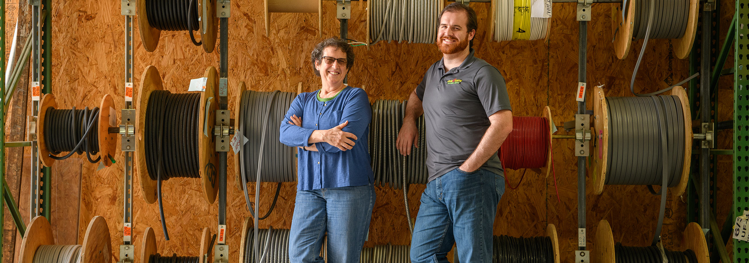 Jeanne and Eric Bomberger own Cash & Carry Electrical Supplies, Inc., in Quarryville, Pa.