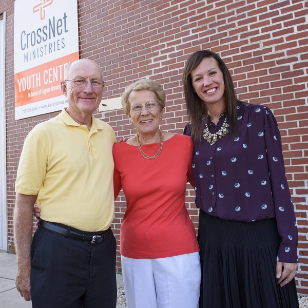 Don and Lois Aldrich partnering with Meredith Dahl of CrossNet Ministries in New Holland