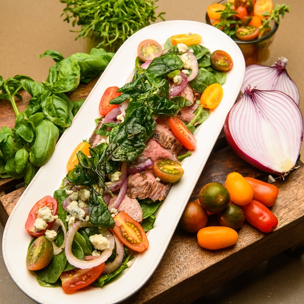 Grilled Flank Steak Salad Entree by Chef Michael