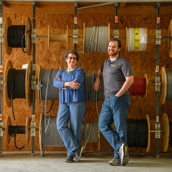 Jeanne and Eric Bomberger run Cash & Carry, an electrical supply store in Quarryville, Pa.