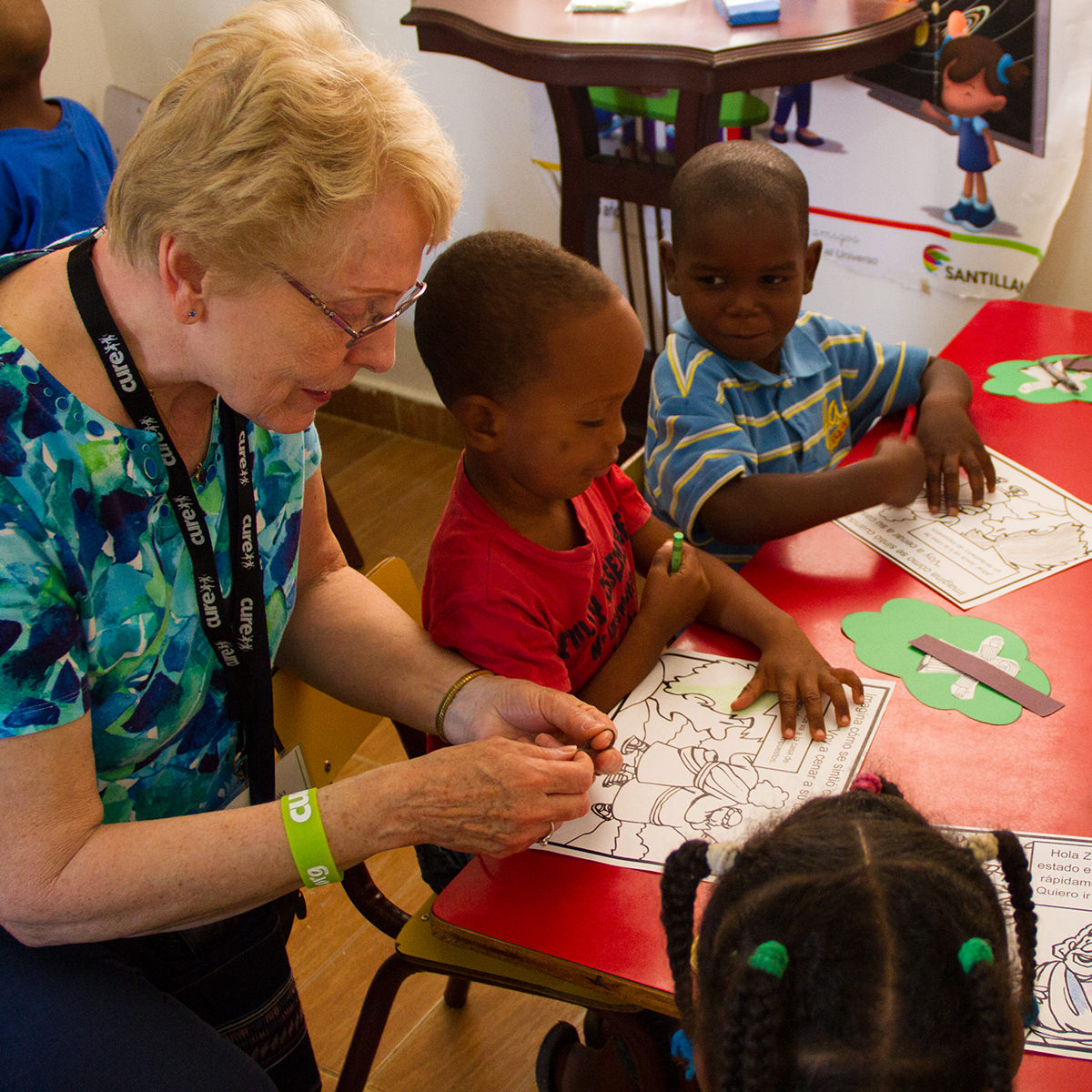 Sharon Amey living with purpose at Garden Spot Village by helping children at school.
