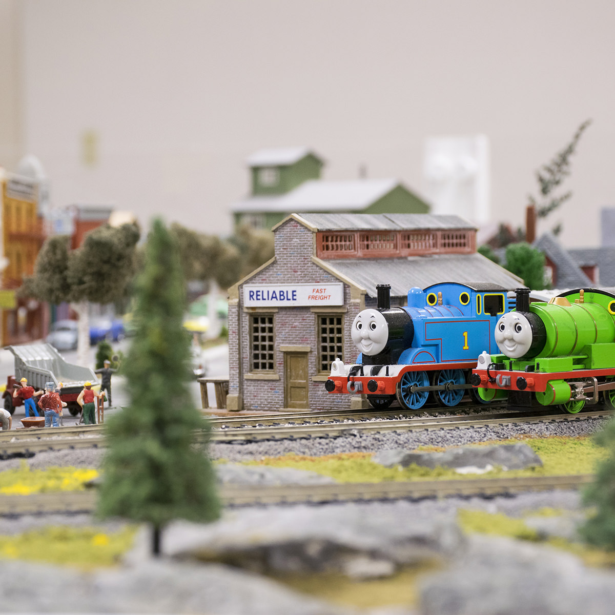 Garden Spot Village Train Room with Thomas and Percy
