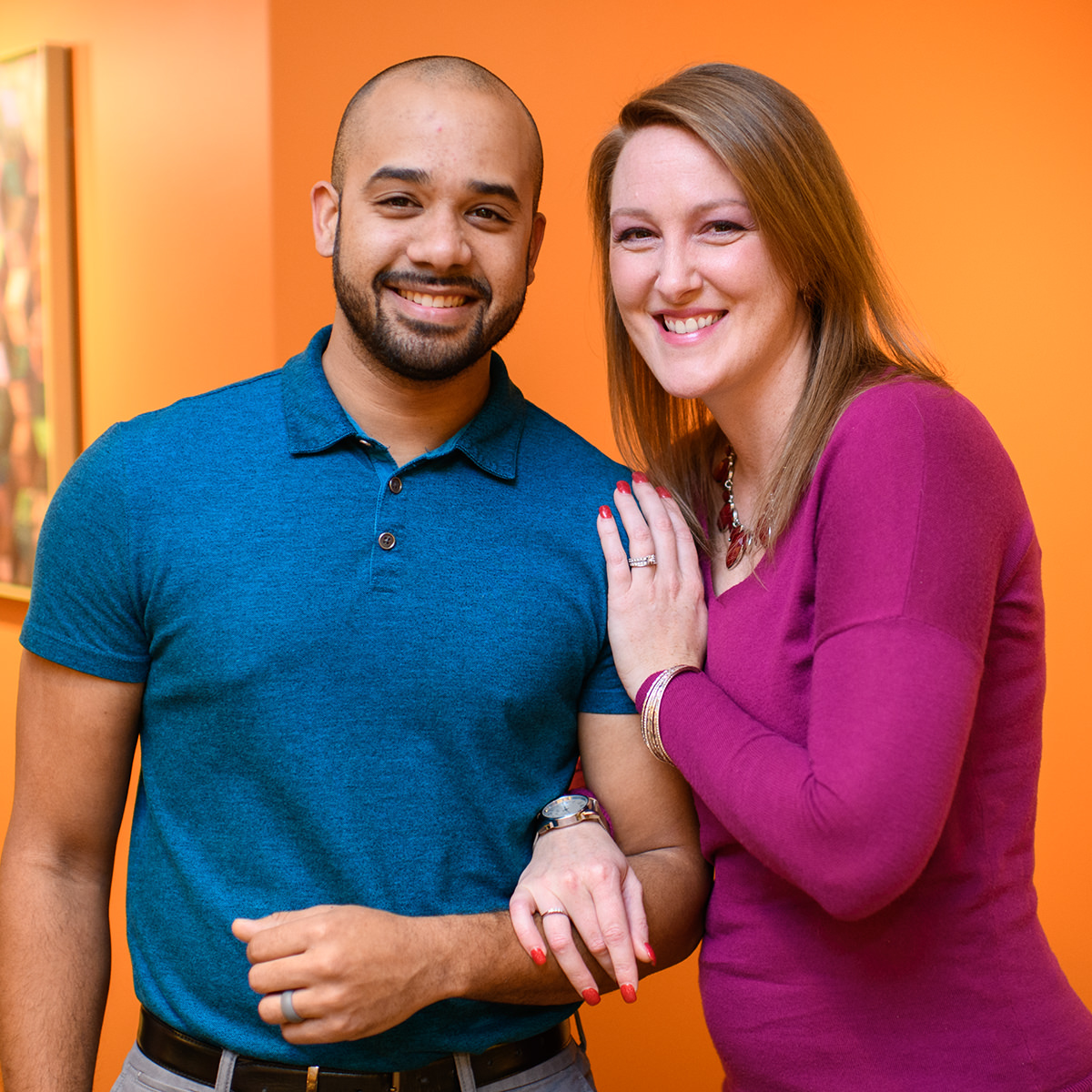 Brandon and Kristy love their jobs and love working together.