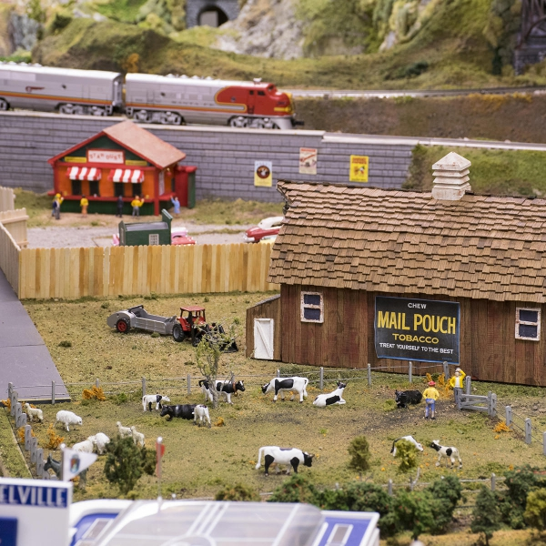 Model Train Layout at Garden Spot Village