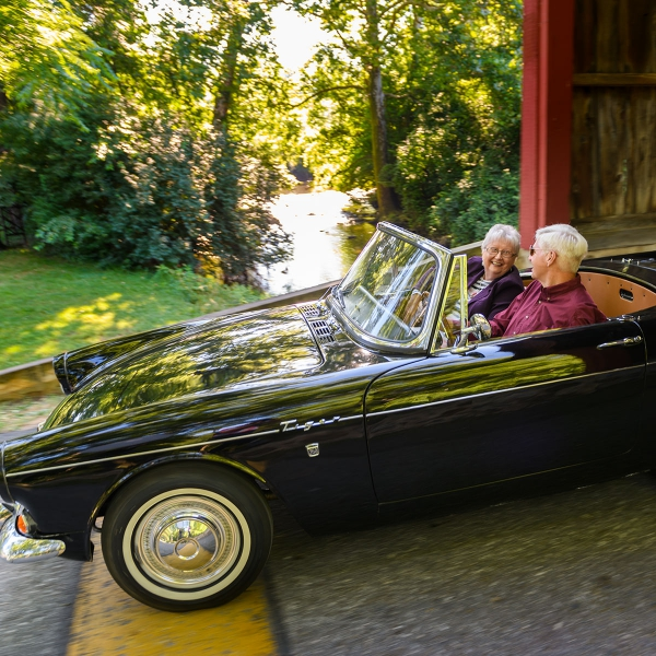 Jim and Jennie Sauer enjoy long, leisurely drives in the summer.