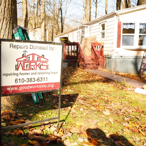 Garden Spot Village partners with Good Works, a home repair ministry in Chester County, to serve our neighbors with home repair needs.