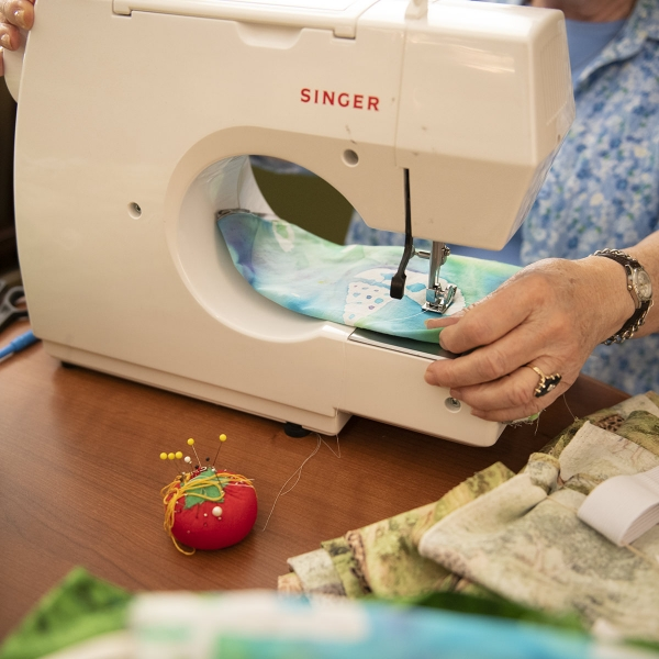 Garden Spot Village residents sewed 96 sets of pajamas, which will be hand-carried to Kenya by staff and residents on the Travel with Purpose trip to Kijabe, Kenya in late September 2019.