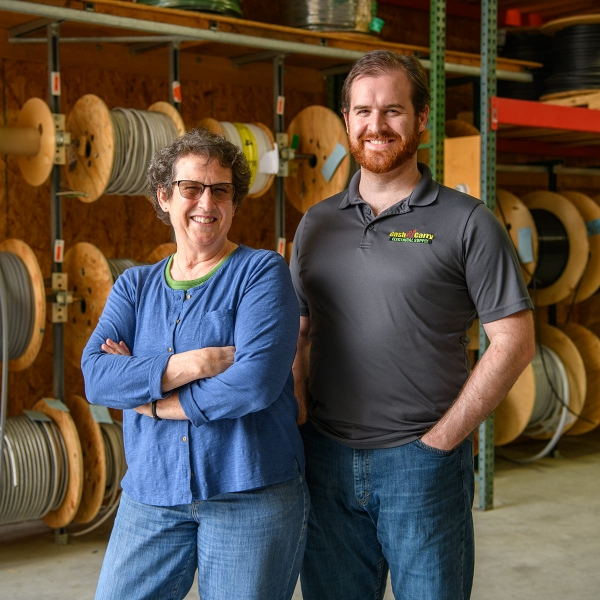 Jeanne and Eric Bomberger own and manage Cash & Carry Electrical Supply, Inc., in Quarryville, Pa.